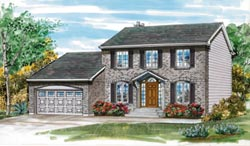 Early-American Style Home Design Plan: 35-222