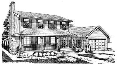 Country Style Floor Plans Plan: 35-226
