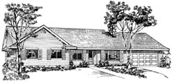 Ranch Style Home Design Plan: 35-245