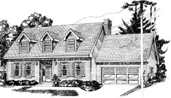 Early-American Style Floor Plans Plan: 35-250