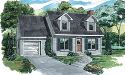 Early-American Style Floor Plans Plan: 35-257