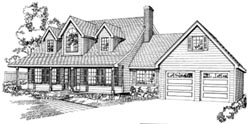 Country Style Floor Plans Plan: 35-267