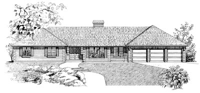 Ranch Style Home Design Plan: 35-278