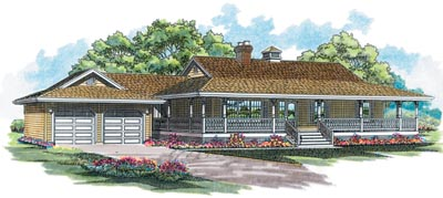 Country Style Floor Plans Plan: 35-280