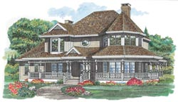 Victorian Style Home Design 35-289