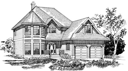 Victorian Style House Plans 35-314