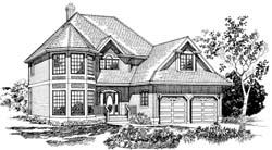 Victorian Style Home Design Plan: 35-314