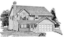 Country Style Home Design Plan: 35-341