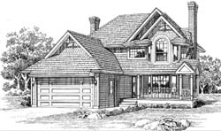 Victorian Style House Plans Plan: 35-361