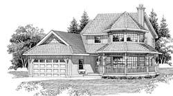Victorian Style Home Design Plan: 35-364