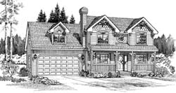 Victorian Style House Plans Plan: 35-371