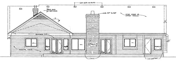Rear Elevation Plan: 35-374