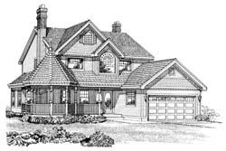 Victorian Style Floor Plans Plan: 35-375