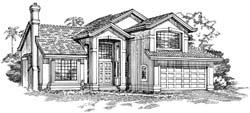 Southwest Style Floor Plans Plan: 35-384