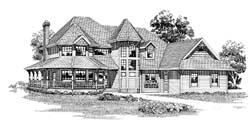Victorian Style Home Design Plan: 35-385