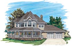 Victorian Style House Plans Plan: 35-389
