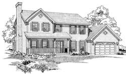 Country Style Floor Plans Plan: 35-392