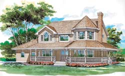 Victorian Style House Plans Plan: 35-395