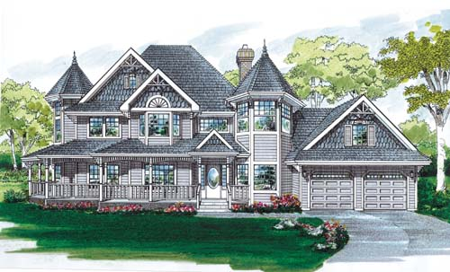 Victorian Style House Plans Plan: 35-399