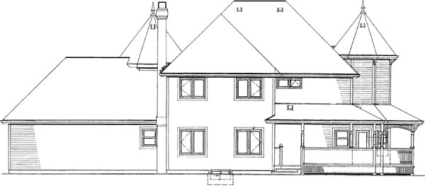 Rear Elevation Plan: 35-399