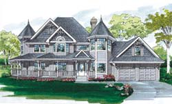Victorian Style House Plans 35-399