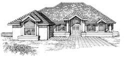 Sunbelt Style House Plans Plan: 35-401