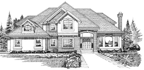 Traditional Style Home Design Plan: 35-416