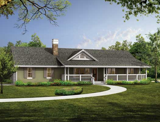 Country Style Home Design Plan: 35-429