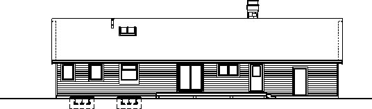 Rear Elevation Plan: 35-429