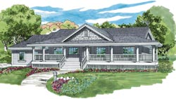 Country Style Home Design Plan: 35-432