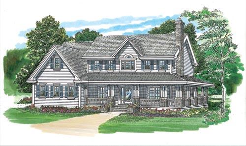 Farm Style House Plans Plan: 35-438