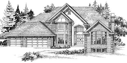 European Style House Plans Plan: 35-439