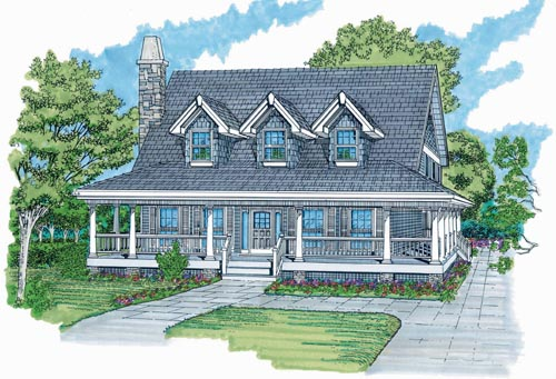 Farm Style House Plans Plan: 35-446