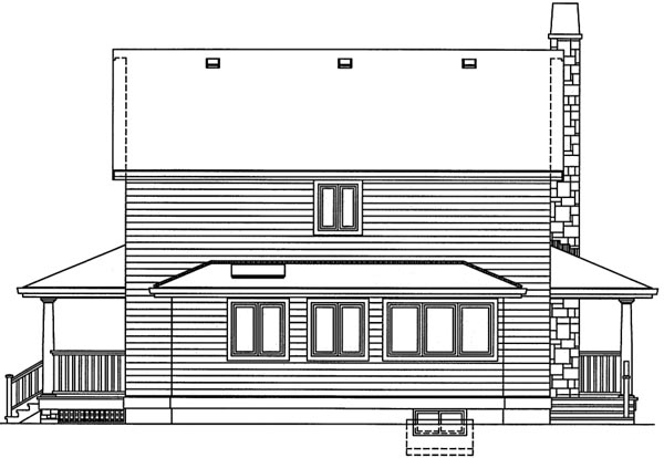 Rear Elevation Plan: 35-446