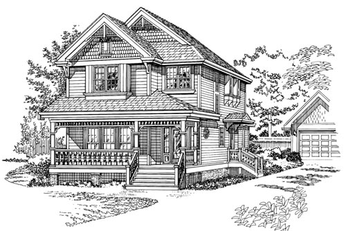 Country Style Floor Plans Plan: 35-451
