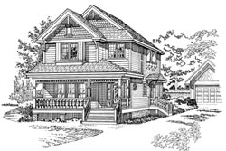Country Style Home Design Plan: 35-451