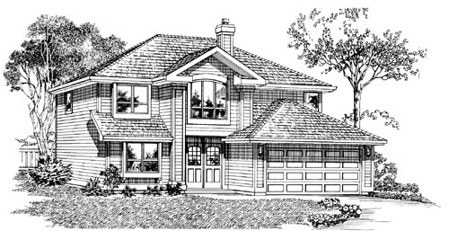 Traditional Style Home Design Plan: 35-463