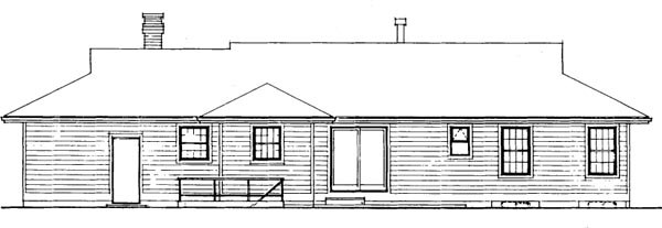 Rear Elevation Plan: 35-469
