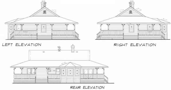 Rear Elevation Plan: 35-488