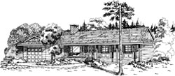 Ranch Style Home Design Plan: 35-508