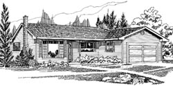 Traditional Style House Plans Plan: 35-519