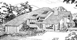 Contemporary Style Home Design Plan: 35-527