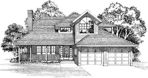 Traditional Style Home Design Plan: 35-558