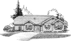 Traditional Style Home Design Plan: 35-566