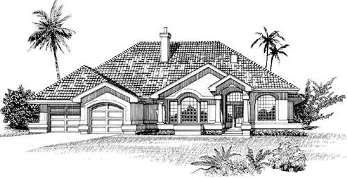 Sunbelt Style House Plans Plan: 35-571
