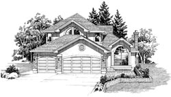 Southwest Style Home Design Plan: 35-602