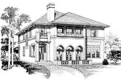 Mediterranean Style House Plans Plan: 35-604