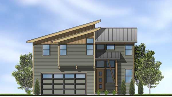 Modern Style House Plans Plan: 36-113