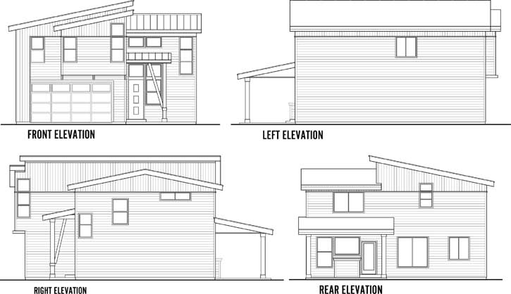 Rear Elevation Plan: 36-113