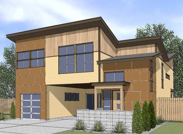 Modern Style House Plans Plan: 36-122